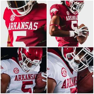 Individuelle Arkansas SEC College Football Jerseys 5 Rakeem Boyd 13 Feleipe Franks 16 Treylon Burks 33 Treylon Burks Männer Frauen Jugend genähtes