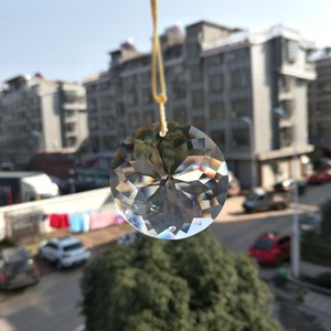 1PC Bling Suncatcher rond Art Sun Charm Charme Pendentif Crystal Suspension Lampe PRISM PRISME PARTIE DIY 45MM Accueil Décor H BBYDXQQ