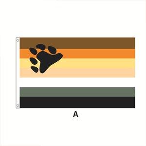 В Международный медведь Brotherhood флаг 90x150cm высокого качества Дешевые Оптовая Pride Флаги 3x5ft полиэфирной ткани Печать