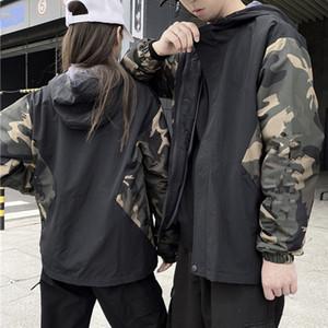 casais Mens Stylist Jacket Outerwear Homens Mulheres de alta qualidade jaquetas de camuflagem Mens Fashion Stylist com capuz casacos tamanho M-XXXL1V4HA