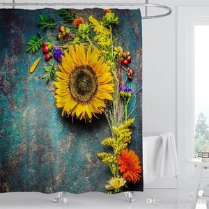 Moroccan Decor Shower Curtain Vintage Building Design Polyester Fabric Bathroom Shower Curtain Set with Hooks Shower Curtains