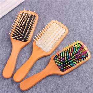 Doğal Ahşap Tarak Islak Kuru Saç Hava Yastığı Saç Bakımı Masaj Tarak Saç Fırçası Tarak Anti-Statik Fırça Salonu Styling Tamer Aracı 39 J2