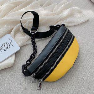 Ccrxrq Fashion Women Pu Waist Bags Ladies Chest Bag 2019 New Solid Waist Pack Crossbody Bag Handy Fanny Pack Banana Packet
