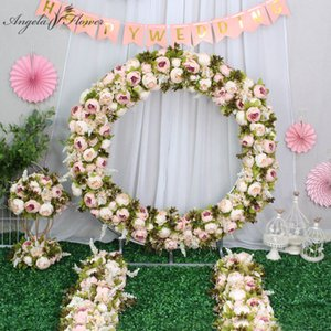 Custom artificial ball centerpieces with stand set match peonies flower row arranment supplies decor wedding arch C0930