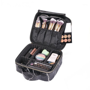Professional Marble Makeup Bags Travel Organizer Cosmetic Bags Tool Pouch Make Up Beauty Case Tattoo Nail Kit Storage CN2591