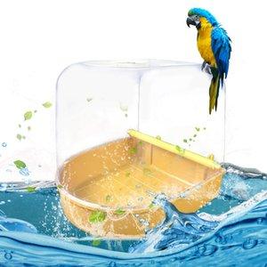 Parrot Vogel-Bad Badewanne Badewanne Box Vogel Reinigungswerkzeug Käfigzubehör Parrot Bad Kunststoff Hänge Wanne-Dusche