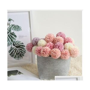 artificial flowers party decorations artificial plants wedding birthday fake flowers 29cm dandelion ball hotel decorations pompon nas0Y