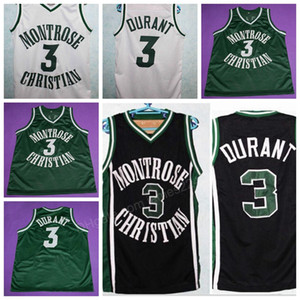 Custom Retro Montrose Christian # 3 K. Durant Basketball Jersey Männer Alles genäht jeder Größe 2xs-3XL 4XL 5XL Name oder Nummer