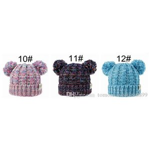 Kids Designer Hats Caps Baby Winter Hats Wholesale Children Knitted Hats Pom Poms Hat Handmade Wool Crochet Beanies G bbyLAU bde_home
