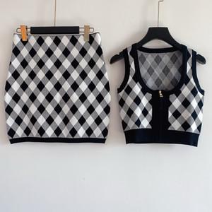 Женщины свитер костюм женщина трексуита кардиган набор двух частей наборы женщина спортивная одежда повседневная одежда высокое качество дизайн вязаный свитер набор-2