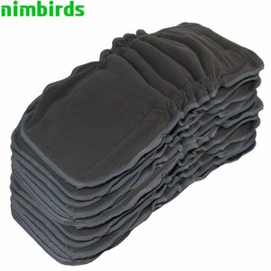 5 PCS Reusable Bamboo Charcoal Insert Baby Cloth Diaper Mat Nappy Inserts Changing Liners 5layer Gussets Bamboo Charcoal Insert 201020