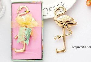 100PCS wedding supplies bottle opener gifts small gifts Europe and America creative flamingo alloy beer bottle opener