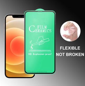 Soft CERAMIC Screen Protector For iPhone12 iphone 12 mini 11 PRO Max IPhone XR XS Samsung A01 A11 A21 A21S A31 A41 A51 A71 A81 A91 CERAMICS
