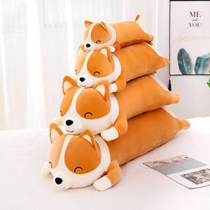 New Hot Selling Plush Toys Creagive Corgi Dog Dolls Toys Kawaii Stuffed Animal Soft Pillow Cushion Girls Kids Gifts Christmas Presents