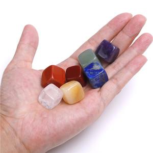 Doğal Kristal Çakra Taş Doğal Taşlar Palm Reiki Şifa Kristalleri Gemstones Yoga Enerji 7 adet Set WQ734