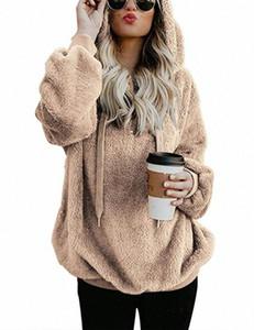 Glaforny Unique Природа женщин Sherpa свитер Корейский пуловер Fuzzy руно Outwear пуловер Женщины Одежда Уличная Весна Топы hYho #