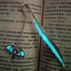 Vintage Bookmarks for Books Luminous Bat Bookmark Read Maker Feather Bookmark Stationery