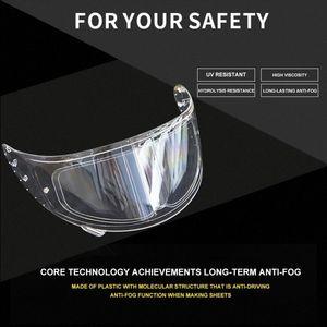 شفافة خوذة دراجة نارية عدسة لمكافحة الضباب المضادة للأشعة فوق البنفسجية السينمائي واضح جدا ميست قناع نظارات للحصول على ملصق للدراجات النارية Helmetpatch عدسة Qkn2 #