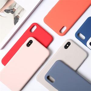 Flüssig-Silikon-Hülle für iPhone 12 Mini 12 11 Pro Max Xr Xs X Fall Luxus Silky Soft-Touch-Abdeckung für iPhone 7 8 Plus 6 6s mit Kleinkasten