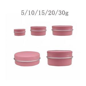 50pcs 5g 10g 15g 20g 30g Empty Aluminum Jar Cosmetic Makeup Cream Lip Balm Gloss Metal Tin Candle Containers Pot Can