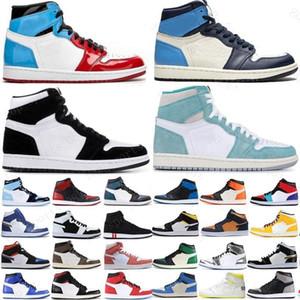 2020 Nuevo Los Zapatos de Baloncesto de Jumpman 1 1 S OG Alta de Pino Verde Negro Corte