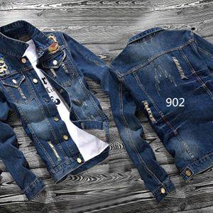 Spring and Autumn 2020 Men's Denim Jacket Korean Slim Denim Clothes Japanese Retro teenagers cowboy Gown Men's Jacket Short coat