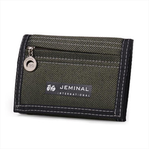 Mens Trifold Short Wallet With ID Window Simple Velcro Card Holder Bag Childrens Canvas Small Pocket Coin Purse
