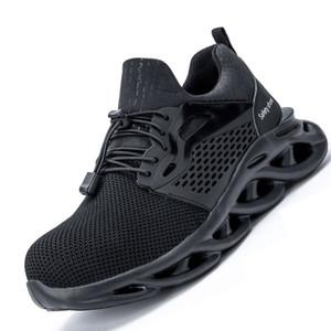 Neueste Männer Leichte Stahlzehe Safety Schuhe Frauen Sommer Anti-Smashing Piercing Work Schuhe Sandalen Mesh Turnschuhe Männer Sicherheitsschuhe