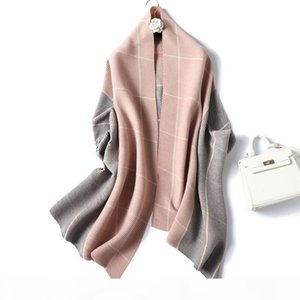 Fashion New double-sided two-color cashmere feel women ladies scarf autumn and winter Scarf Shawls long Wraps Pashmina Accessories 2019 new