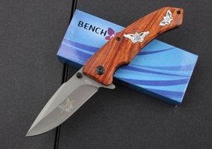 wholesaler Benchmade BrowningF68 Flipper Titanium Pocket Folding Knife 440C 57HRC Tactical Camping gear Hunting Survival Knives EDC tool