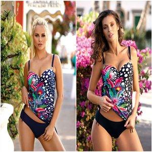 Yihao 2020 neue reizvolle Art und Weise gedruckt Bikini Split slim zwei Badeanzug