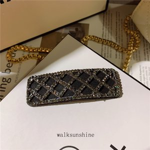 Women Barrettes 2 Color 3 Style Fashion Hairpin For Girl Women's Wind Inlaid Crystal Diamond Side Clip Online Celebrity Style