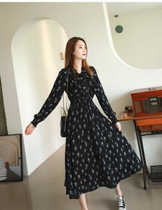 18 sr zhrDandelion flower chiffon dress for women 2020 new skirt with waist closing and thin temperament