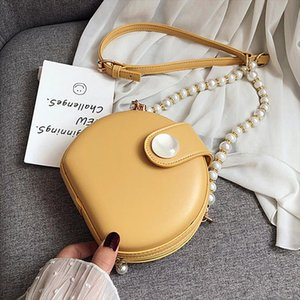 Pearl Strap Pu Leather Design Crossbody Bag 2020 Women Small Handbag Small Bag Hand Ladies Designer Evening