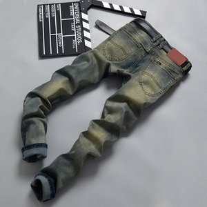SDC1 Gradient Style Color Style Designer Jeans Trous Zipper Pencil Street Pantalons Mens Cool Cool Casual Mode Mens Jeans