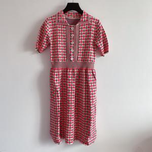 1015 2020 vestido de suéter otoño envío Carta de manga larga para mujer de la solapa de la flora Imprimir cuello Lanlan
