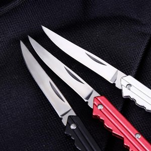 Mini Knife Key Letter Camp Outdoor Keyring Ring Keychain Fold Open Opener Pocket Package Survive gadget Multi Tool Blade Box kit