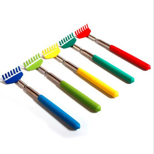 5 Colors 20-68cm Stainless Steel Back Scratcher Claw Telescopic Retractable Back Scratcher Extendible Body Massager Hackle Itch Stick