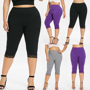XL 5XL Plus Size Shorts Women Biker Shorts Lace High Waist Casual Short Pants Women New korte broek dames short femme été