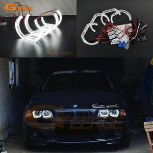 Excellent Ultra bright DTM Style led Angel Eyes halo rings For E46 M3 Coupe Convertible 2001-2006 xenon headlight