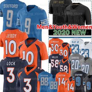 10 Jerry Jeudy Jersey 3 Drew Lock 58 von Miller Phillip Lindsa Courtland Sutton John Elway 9 Matthew Stafford Barry Sanders Kerryon Johnson