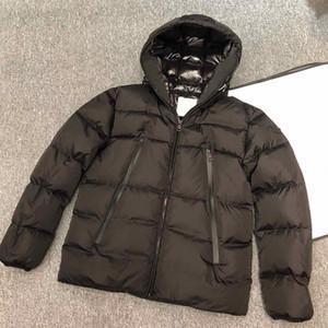 I nuovi mens inverno giù giacca bianca lettera ricamo calda giacca con cappuccio impermeabile casuale coppie modo di usura formato S-XXL
