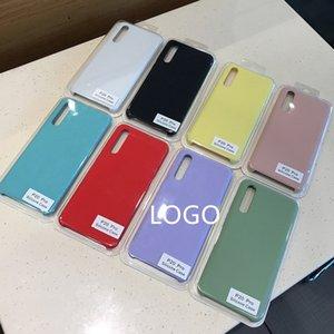 100% original P20 Silicone Cell Phone Pro para Huawei P 20 30 Mate P40 Liquid Case 10 Lite Honor 20 Casos P30 Smart Official DJQPA