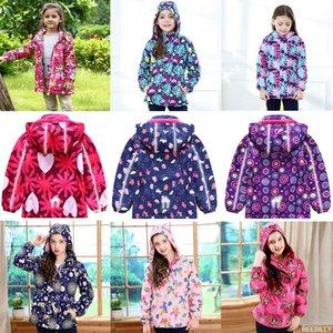 BEEBILLY New Girls Jacken Warme Polar Fleece-Jacken für Mädchen Winter Herbst Wasserdichte Windjacke Kinder Mantel Kinder Oberbekleidung 201109