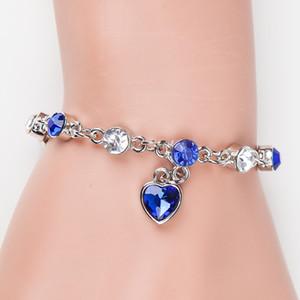 Fashion Crystal Bracelet Peach Heart Diamond Flash Diamond Women's Jewelry Bracelet Personalized Jewelry Bracelet Wholesale