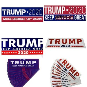 HOT Donald Trump 2020 Stickers 7.6*22.9cm Bumper Sticker Keep Make America Great Decal for Car Styling Vehicle Paster 3 New