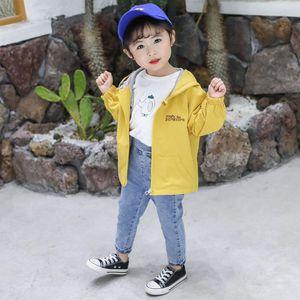 Childrens Jacket Autumn New Style Bear Jacket Childrens Cartoon Hooded Zip Top Girls Short Trench Coat