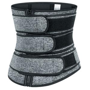 Premium Waist Trimmer Corset Cincher Fitness Sauna Sweat Bands Three Belts Firm Control Body Shapewear Slimming Waist Trainer Tummy Shaper