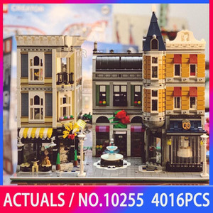 Creator Expert City Street View 15019 4016PCS The Assembly Square Sets MOC 10255 Building Blocks Bricks Children Toys Gifts Q0123