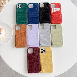 for iphone 12 pro Max Case Card Pocket Crocodile Pattern Leather for apple 11 7 8 xs max high-end 10 Colors DHL FEDEX